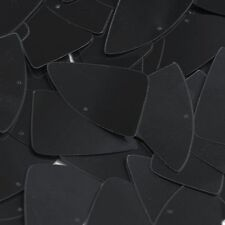 """Black Opaque Glossy Shiny Fishscale Fin 1.5"""" Couture Sequin Paillettes"""