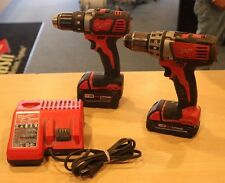 Milwaukee 18v Cordless Drill Combo Kit 2606-20 + 2601-20 Pre-owned Free Shipping