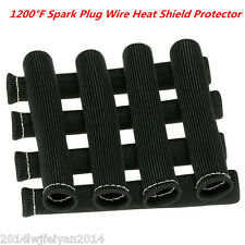 8x Black 1200° Spark Plug Wire Protector Sleeve Boot Heat Shield Cover Hot Sales