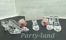 12 Fillable Cinderella Clear Slippers Wedding Favors Holders Plastic Shoes Gifts