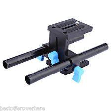 WEIHE Universal Aluminum 15MM Camera Rail Slider with 1/4 Quick Release Plate