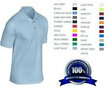 6 Custom Embroidered * FREE LOGO * Dry Blend POLO SHIRTS Embroidery Personalized
