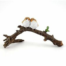 Miniature Love Birds on Branch  Fairy Garden Dollhouse 4404