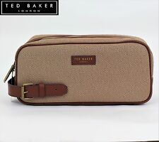 New TED BAKER 2017 Mens Canvas Weekend Sports Wash bag Travel Leather handle