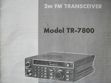 KENWOOD TR-7800 (GENUINE MANUAL ONLY)............RADIO_TRADER_IRELAND.
