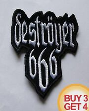 DESTROYER 666 W PATCH,BUY3GET4,AURA NOIR,SODOM,NIFELHEIM,ABSU,BLACK THRASH METAL