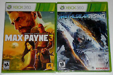 XBox 360 Game Lot - Metal Gear Rising Revengeance (New) Max Payne 3 (New)