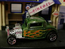 2015 FLASHFIRE Exclusive '32 FORD Coupe∞Green Pearl; Flames☆LOOSE Hot Wheels