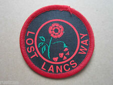 Lost Lancs Way Walking Hiking Cloth Patch Badge