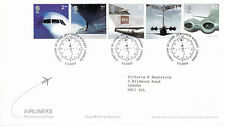 2 MAY 2002 AIRLINERS ROYAL MAIL FIRST DAY COVER HEATHROW AIRPORT SHS (b)