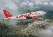 EASYJET EASY JET AIRBUS A319 AIRLINER ART PRINT