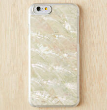 Real Sea Shell Natural Conch Peal Stone White Cover Case for Apple iPhone 6 4.7""