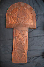 Primitive Hand Carved Wooden Chair Section or Plaque