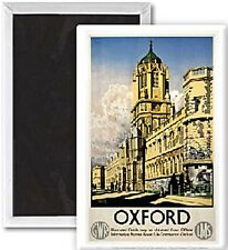 Oxford GWR Colleges (old rail ad.) fridge magnet   (se)