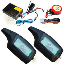 Two Way Motorcycle Alarm /w 2PCS Lcd Remote,433.92mhz Learning Code
