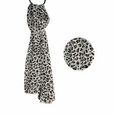 Grey Leopard for Women Ladies Soft Fashion Scarves