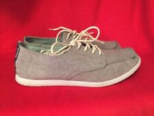REEF Silver Salt Pepper Gray Loafers Boat Deck Deckhand Leather Mens Shoes Sz 9