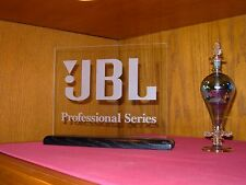 JBL PROFESSIONAL SERIES SPEAKERS ETCHED GLASS SIGN W/BASE