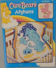 Leisure Arts Care Bears Afghans Crochet Doll Cross Stitch Pattern Book