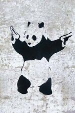 Banksy Panda With Guns poster     A2  SIZE
