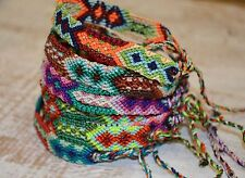 Friendship Bracelets Woven Wholesale lot 15 Silk Linen Wristband Surfer Unisex