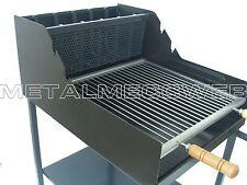Barbecue a legna e carbonella acciaio pesante-GRIGLIA INOX SMONTABILE MADE ITALY