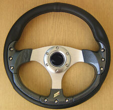 Volante Deportivo Tuning Carbon Mercedes w201 190 E D w123 w124 CLK SLK Vito