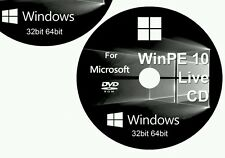 Windows 10 8 7 XP 32bit 64bit WinPE 10 8 Rescue Live 2016 CD DVD Black Edition