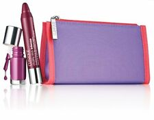 NIB Clinique Paired in Purple FULL SIZE Chubby & Travel Size Nail Polish w/ Bag!