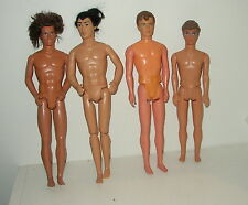 FOUR NUDE MALE DOLLS INCLUDING  KEN, SHANG, KEVIN/NS