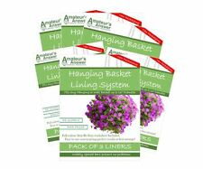 """Hanging Basket Liners (18 Pack) - Best Liner - Easy to use - Up to 16"""" Diameter"""