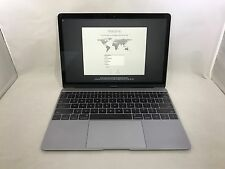 MacBook 12 Space Gray Early 2015 MF855LL/A 1.1GHz M 8GB 256GB Excellent