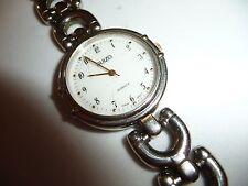 #94C vtg wristwatch SUIZO  quartz #31918 Japan Mov  silver tone  NEEDS BATTERY