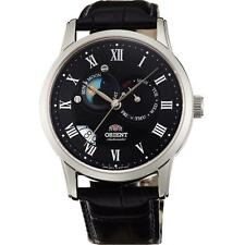 ORIENT MEN'S 42.5MM BLACK LEATHER BAND STEEL CASE AUTOMATIC WATCH FET0T002B0
