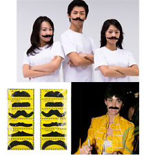 12Pcs Costume Funny Party Self Adhesive Fake Moustache Mustaches Black Handmade
