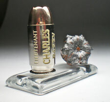 45 ACP Auto Winchester PDX1 Engraved bullet Expanded on Glass Base