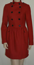 NWT BURBERRY BRIT $1195 WOMENS WOOL CASHMERE TWILL DRESS COAT JACKET US 4 EU 38