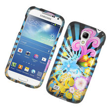 For Samsung Galaxy S4 MINI HARD Protector Case Snap Phone Cover Flower Blast