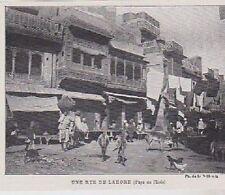 1901  --  INDE  UNE RUE DE LAHORE   3B033