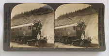 Keystone Stereoview President Harding in Electric Locomotive on Alaska Trip 1923