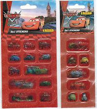 2 x Cars Aufkleber * Sticker * 2 in 1 Wackelbilder * Disney  * Neu * OVP