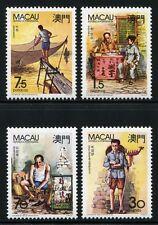 MACAU MACAO 1990 Berufe II Musiker Schuhmcher Schreiber Fischer 640-43 ** MNH