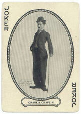 A5 STAMPA -- vintage playing card Charlie Chaplin JOKER (PICTURE POSTER POKER art)