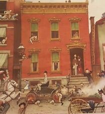 "NORMAN ROCKWELL PRINT- ""The Street Was Never The Same Again"" Advertising Print"