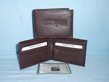 NEW ENGLAND PATRIOTS   Leather BiFold Wallet   NEW   dkbr 3s  sb