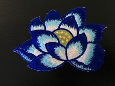 Sew on & iron on  patches(Lotus flower-blue)