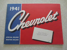 1941 Chevrolet automobile advertising booklet Chev Special & Master Deluxe cars