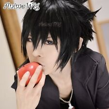 New Fashion Sasuke Uchiha Short Layered Anime Black Cosplay Hair Synthetic Wig