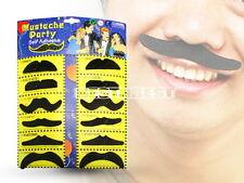 12 X Fausse Moustaches Barbe de Six Styles Déguisement Auto-adhésif Comique