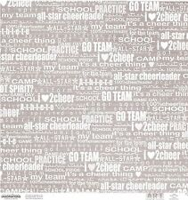 Creative Imaginations - Cheer Phrase Scrapbooking Paper 14654 Cheerleading